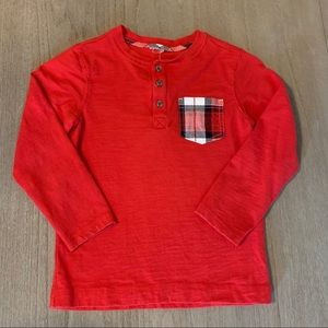 Gymboree Shirts & Tops - Gymboree boys long sleeve holiday tee 6/7